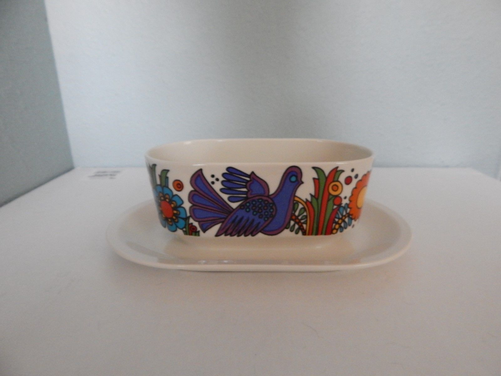 Villeroy & Boch Acapulco Gravy Boat Bowl with Attached Plate