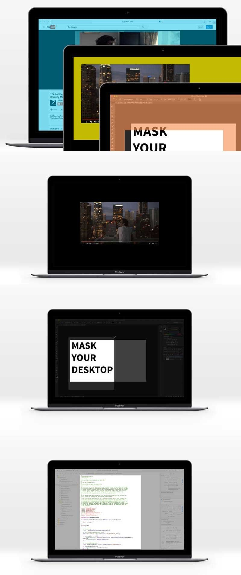 Masquerade 1.3.0 for Mac 破解版 覆盖部分桌面的工具 Mac application
