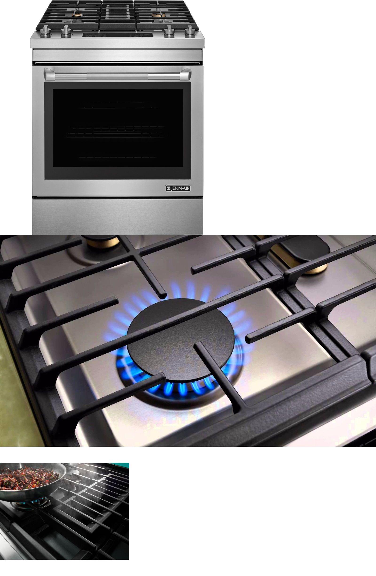 appliances jenn air 30 pro ss dual fuel slide in downdraft range