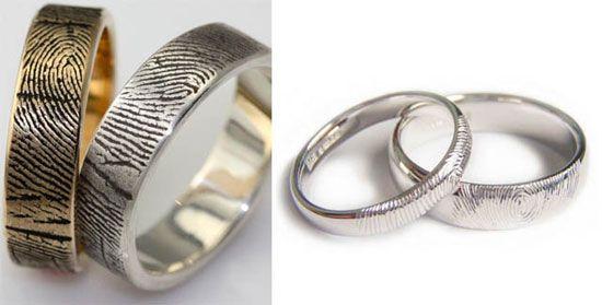 Engraved Fingerprints Rings