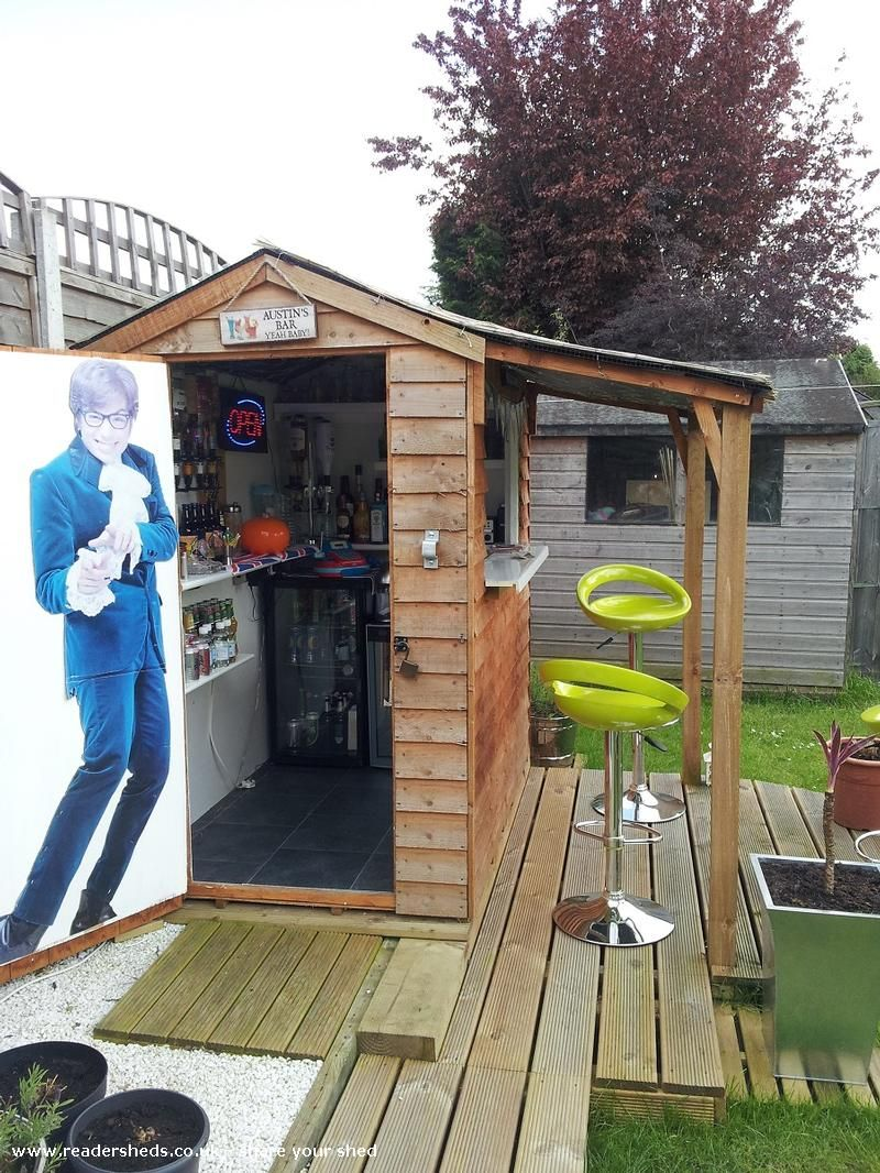 Pub/Entertainment From Garden | #shedoftheyear. Backyard BarBackyard IdeasGarden  ...