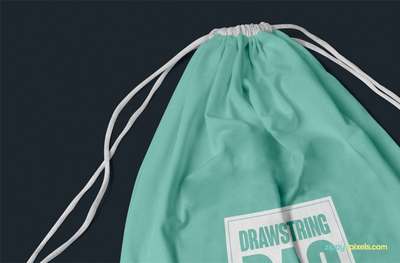 free drawstring bag mockup for merchandising | Mock ups ...