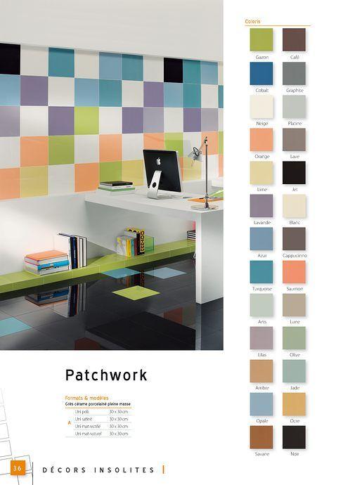 patchwork de carreaux en gr s c rame porcelain pleine masse pour sol et mur carrelage. Black Bedroom Furniture Sets. Home Design Ideas