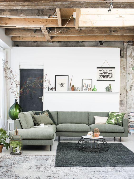 Een hoekbank: dé oplossing voor een kleine woonkamer | Appartement ...
