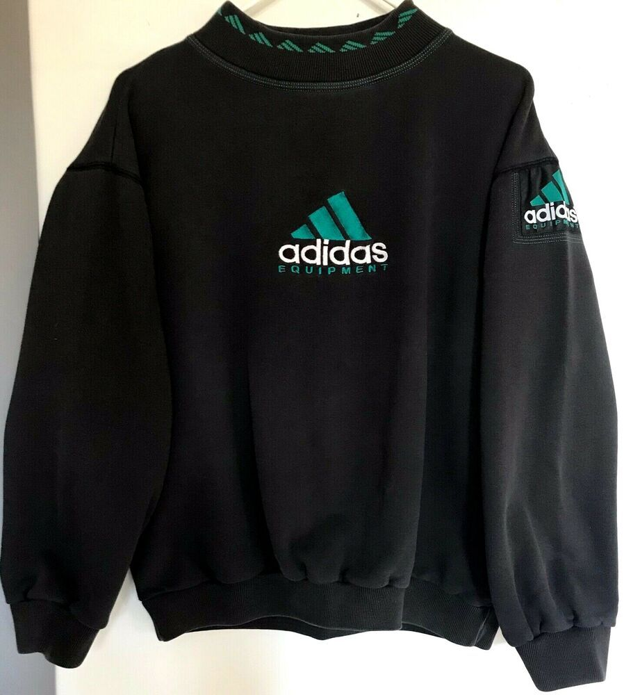 Adidas Equipment Limited Edition Vintage Men's Large Sweatshirt Rare G6 Adidas Sweatshirtcrew In 2020 Equipment Clothing Stylish Mens Outfits Mens Trendy Outfits