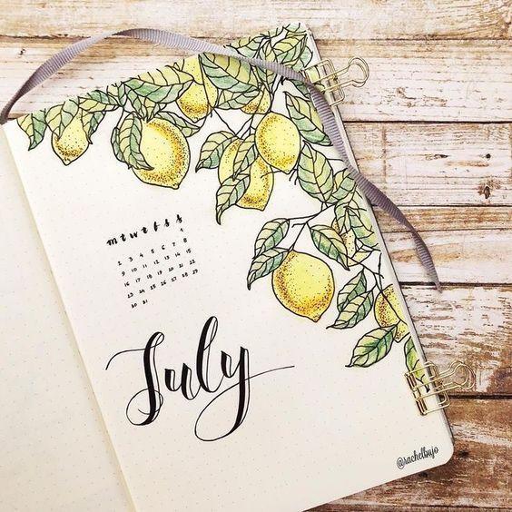 Bullet Journal à thème : un été citronné #bulletjournal