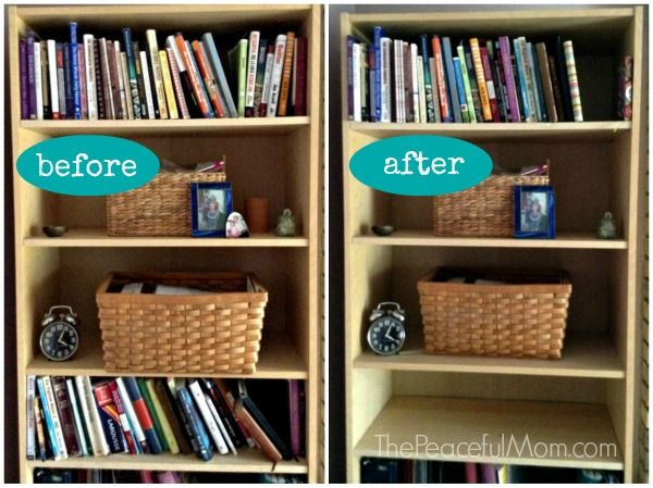 Konmari Declutter Books Before And After The Peaceful Mom