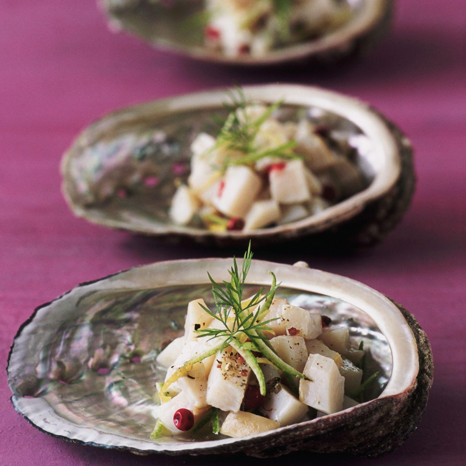 Salade d'ormeaux à la tahitienne