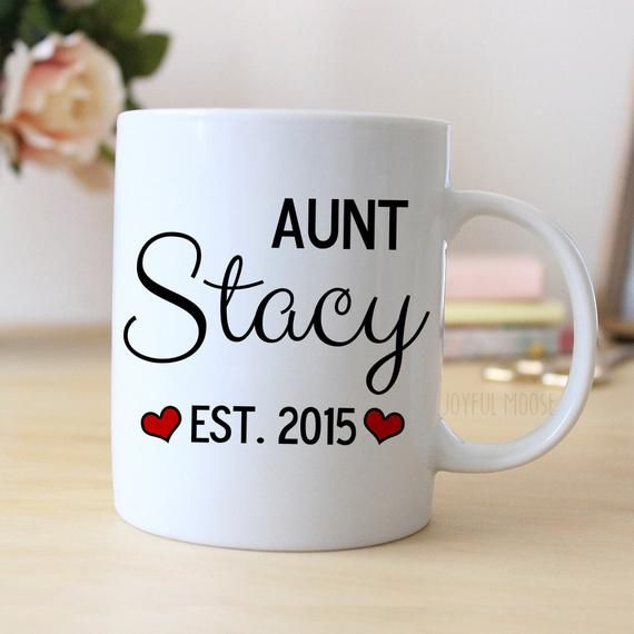 9923f57dd5 Aunt Personalized Mug - Personalized Aunt Coffee Mug - Aunt Gift for Aunt to  Be