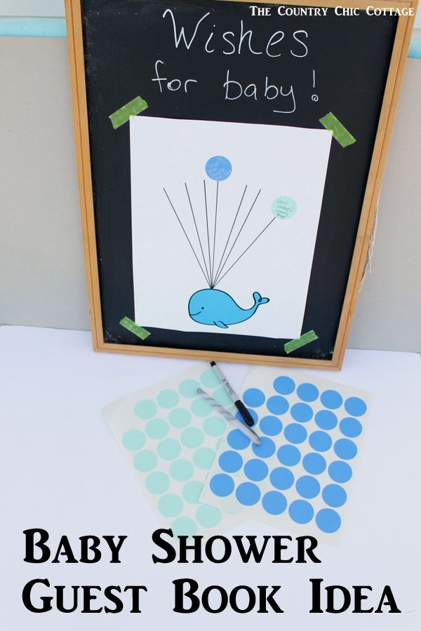 High Quality Baby Shower Guest Book Idea With Free Printable Whale Art! Turn This Fun  Guest Book