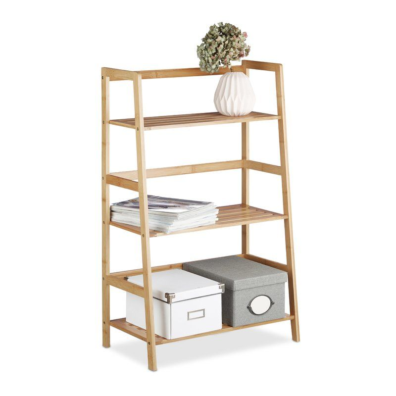 Auer Bamboo Freestanding Bookcase Standregal, Schmales