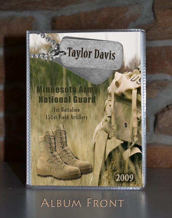 Soldier Photo Album Army National Guard Gift For Mom Thank