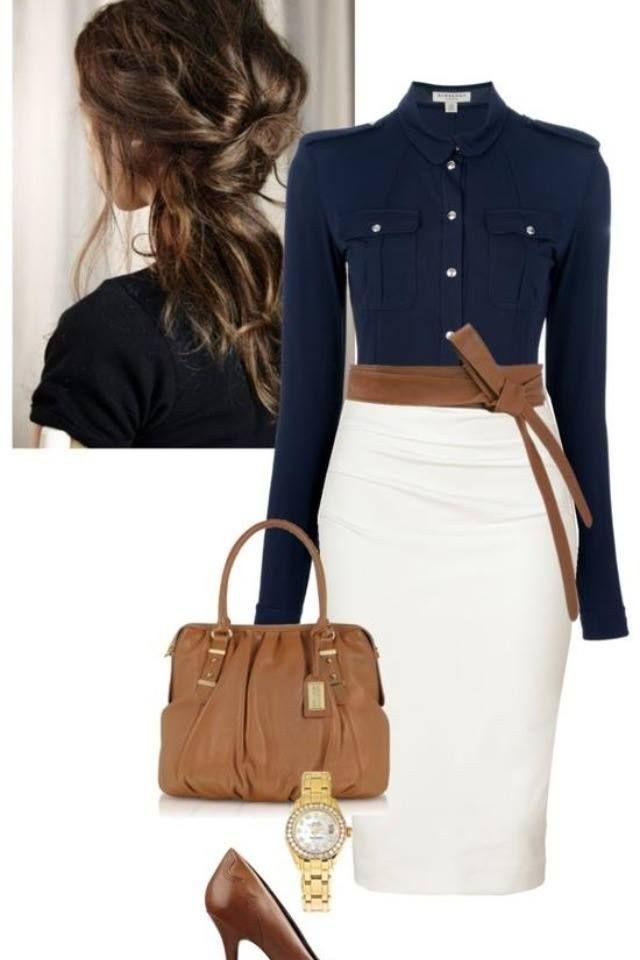Azul marino marrón Blanco