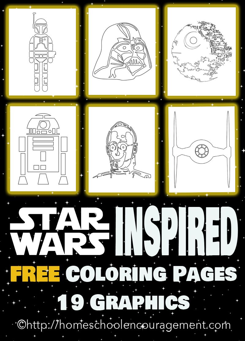 May the 4th Be With You – Star Wars Inspired Coloring Pages