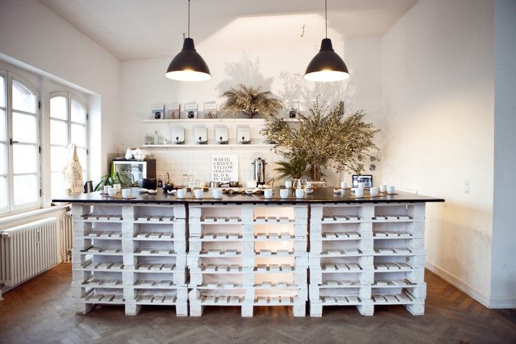 bright white  rustic kitchen design