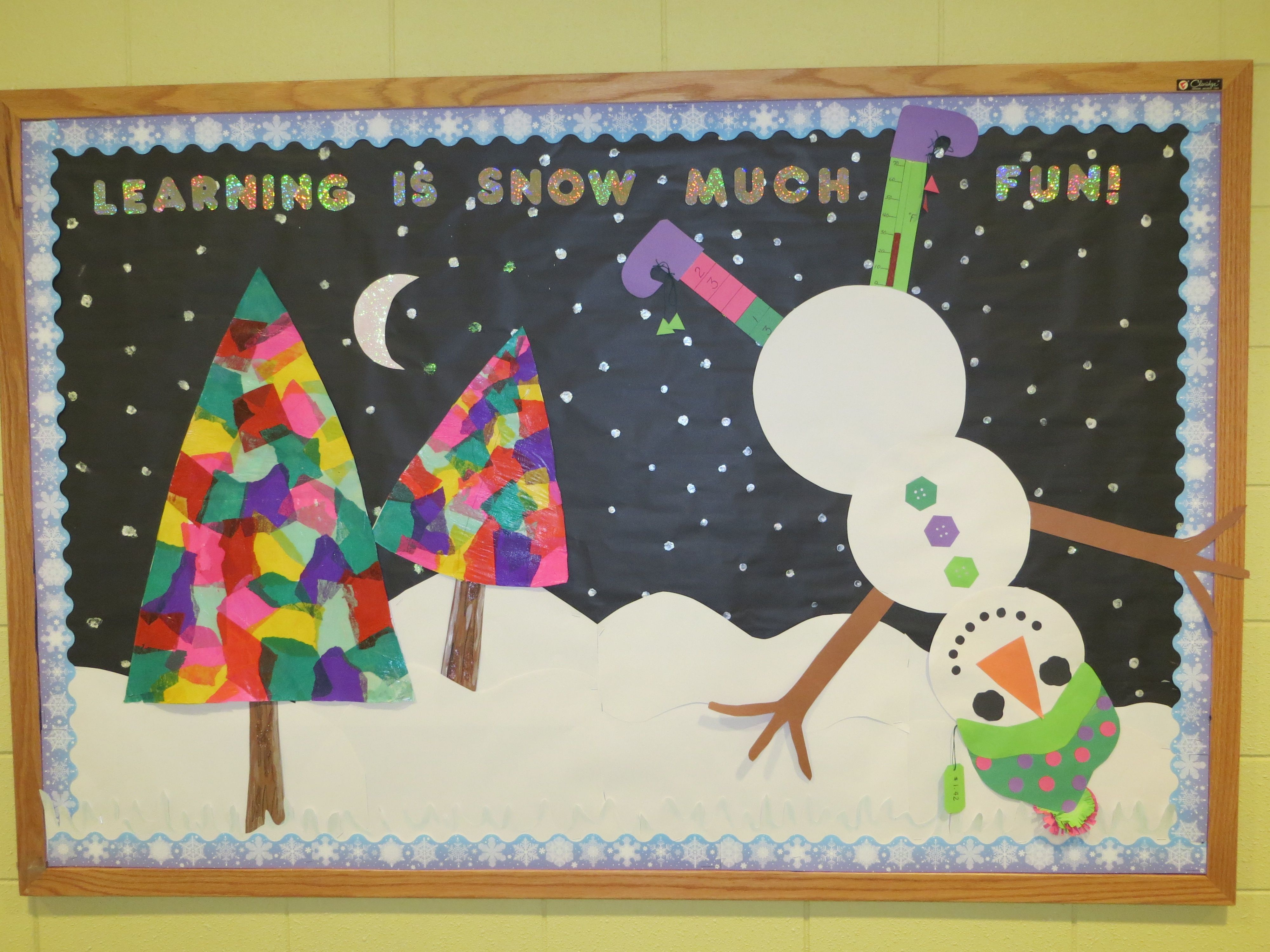 Winter Bulletin Board For 2nd Grade With Math Skills On