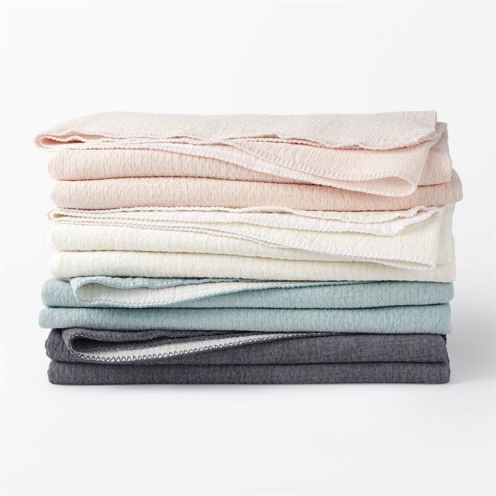 Shop Coyuchi Cozy Cotton Throw At Atg Stores Browse Our Blankets Throws All With Free Shipping And Best Price Guaranteed Cotton Blankets Cotton Baby Blankets Blanket