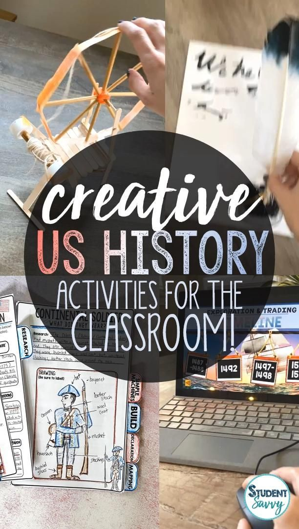 Creative United States History Activities for the Classroom! – Student Savvy