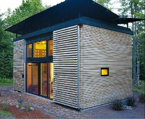 It S A Multipurpose Shape A Box Micro House Small House Cabins And Cottages
