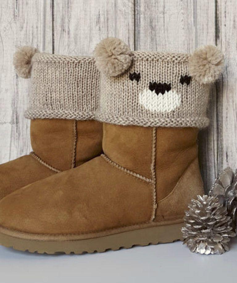 Free Knitting Pattern For Teddy Bear Boot Toppers Knit Boot Cuffs Pattern Knitted Boot Cuffs Crochet Baby Leg Warmers
