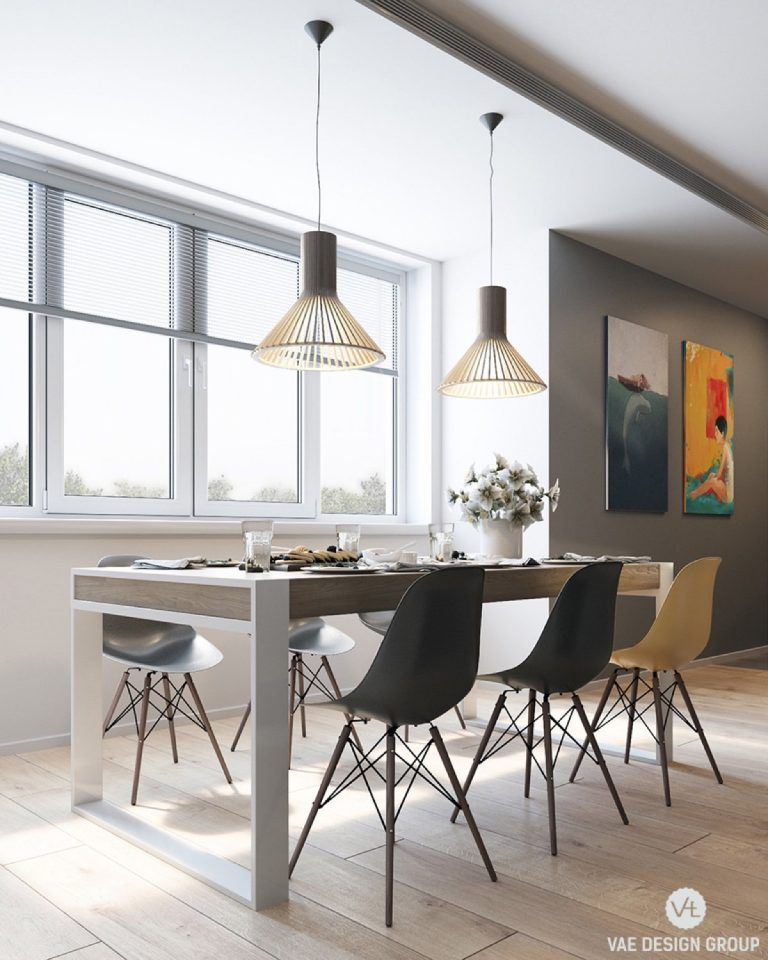 2 Modern Apartments Under 1200 Square Feet Area For Young Families Includes 3d Floor Plans With Images Small Apartment Interior Dining Room Design Apartment Interior Design