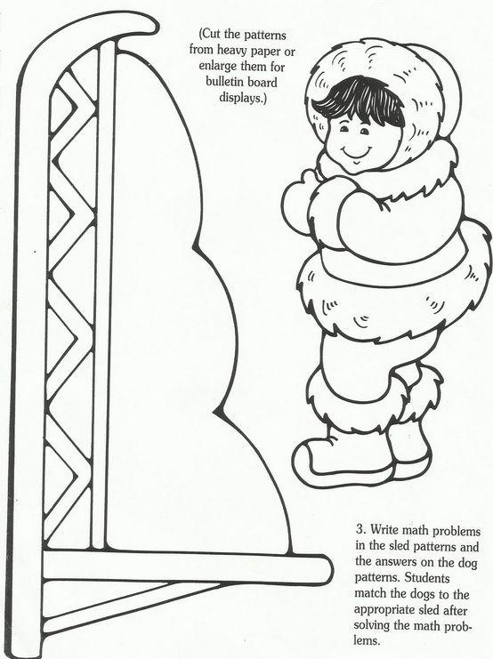 Traîneau à Chiens Art Projects For Students Arctic