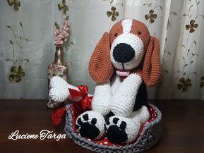 Receita amigurumi cachorro beagle • Curso de croche online•