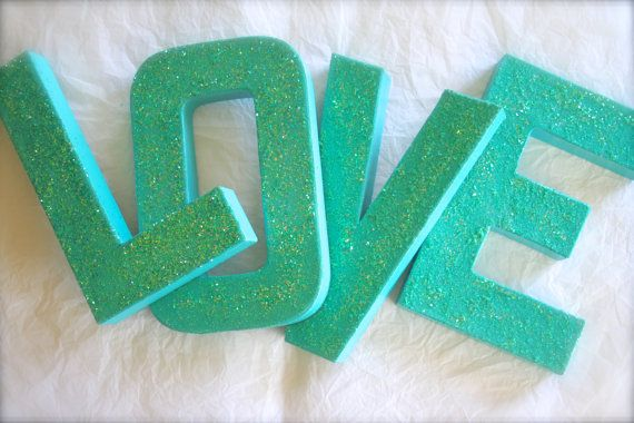 These Hand Glittered letters add absolutely stunning decor to your venue, party, or home decor! Theyre pretty generously sized at 8 tall, and they