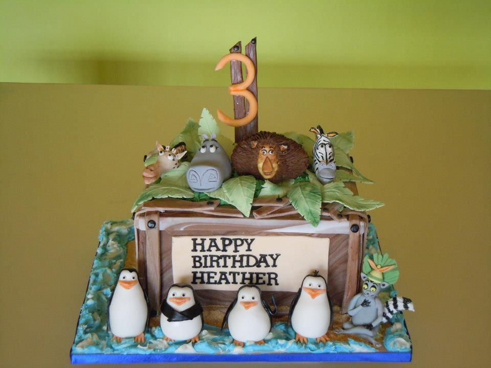 - this is a madagascar birthday cake ........its a chocolate cake....