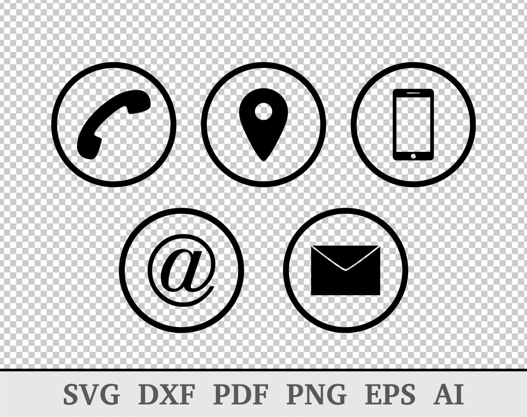 Phone Icon SVG Mail SVG Envelope svg Contact us svg image