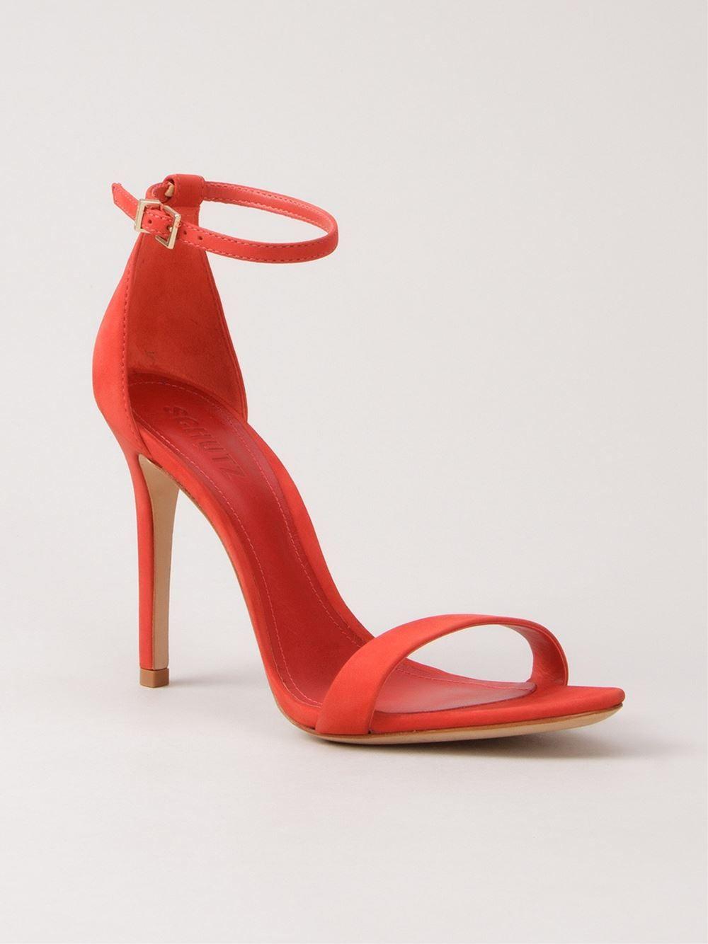 476d07a09f7a0 Schutz Sandália De Nobuck - Schutz - Farfetch.com   Shoes   Bags ...