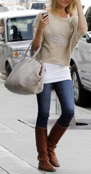 I need boots like these to wear those cute knitted or sweater socks. fashforfashion -♛ STYLE INSPIRATIONS♛: seasonal