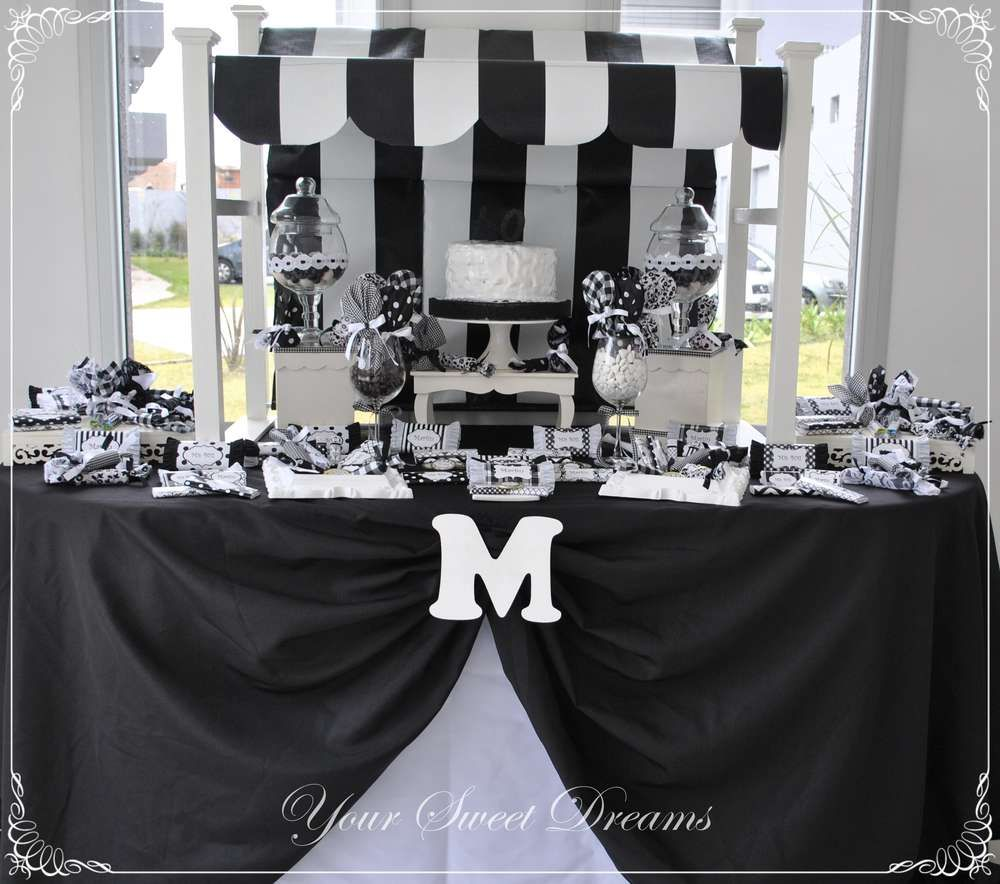 Black And White Birthday Party Ideas Photo 1 Of 9 White Party