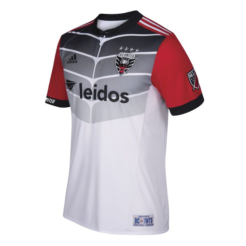 D.C. United adidas 2017 18 Secondary Authentic Jersey - White ... e57740fd5