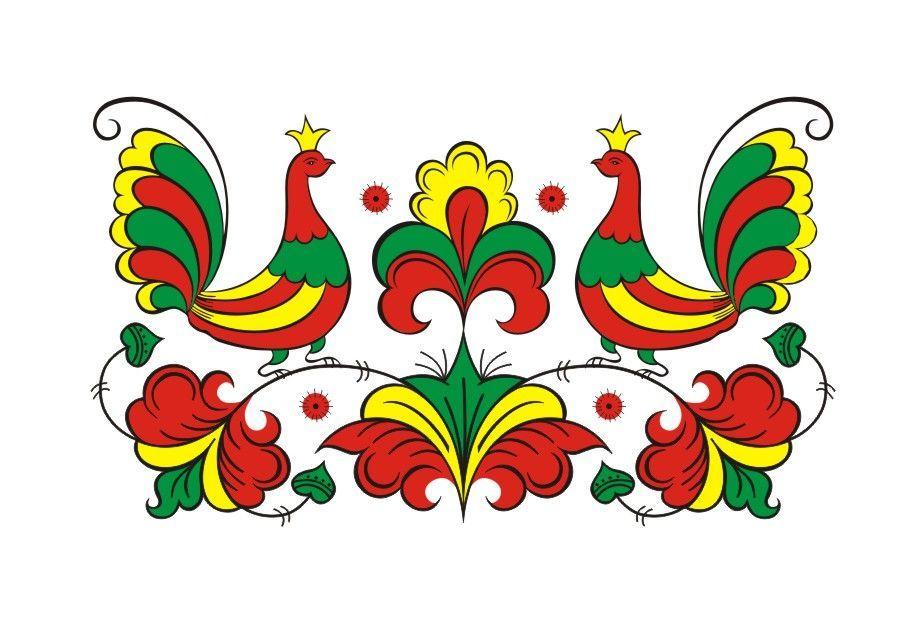Городецкая роспись картинки цветы поэтапно центре