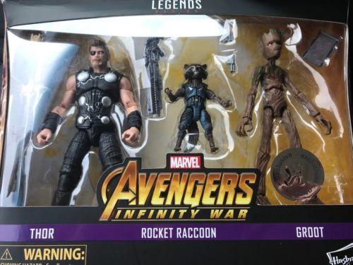 Resultado de imagem para Marvel Legends Thor Rocket Raccoon Groot