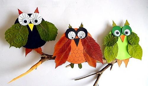 Make Owls Out of Leaves | DIY/Paper | Fun crafts for kids