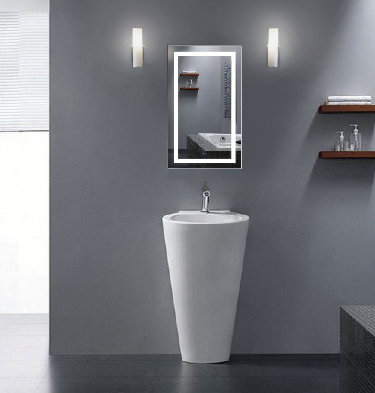 18 Inch X 30 Lighted Vanity Mirror