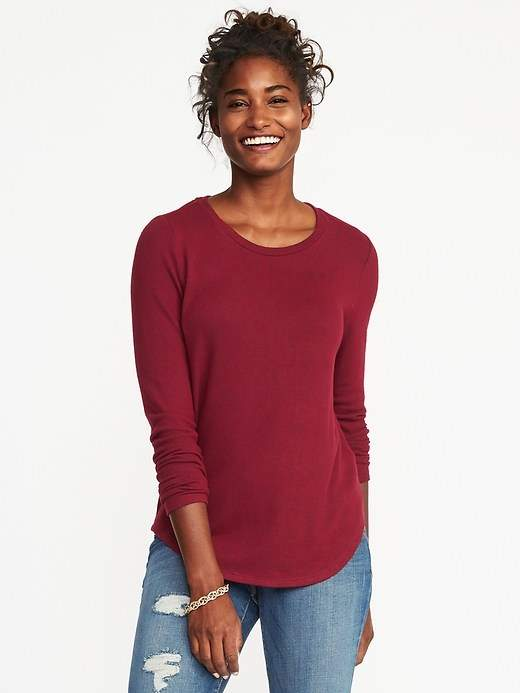 2d53c2eb7d6 Old Navy Relaxed Plush-Knit Tee for Women | Old navy | Mens tops ...