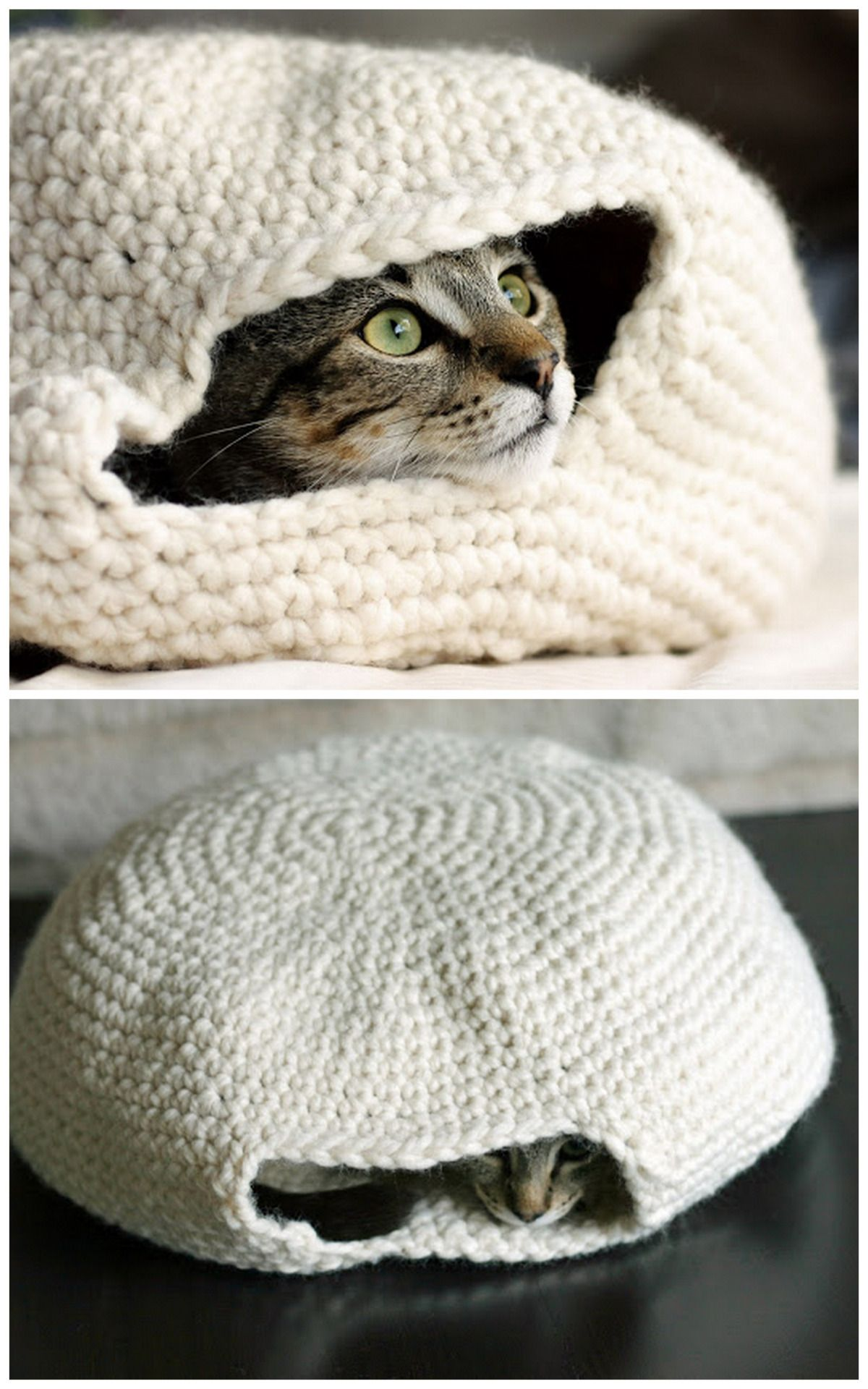 "DIY Crochet Cat Nest ""Muffin Oven"" Pattern by Eilen Tein on Ravelry ..."