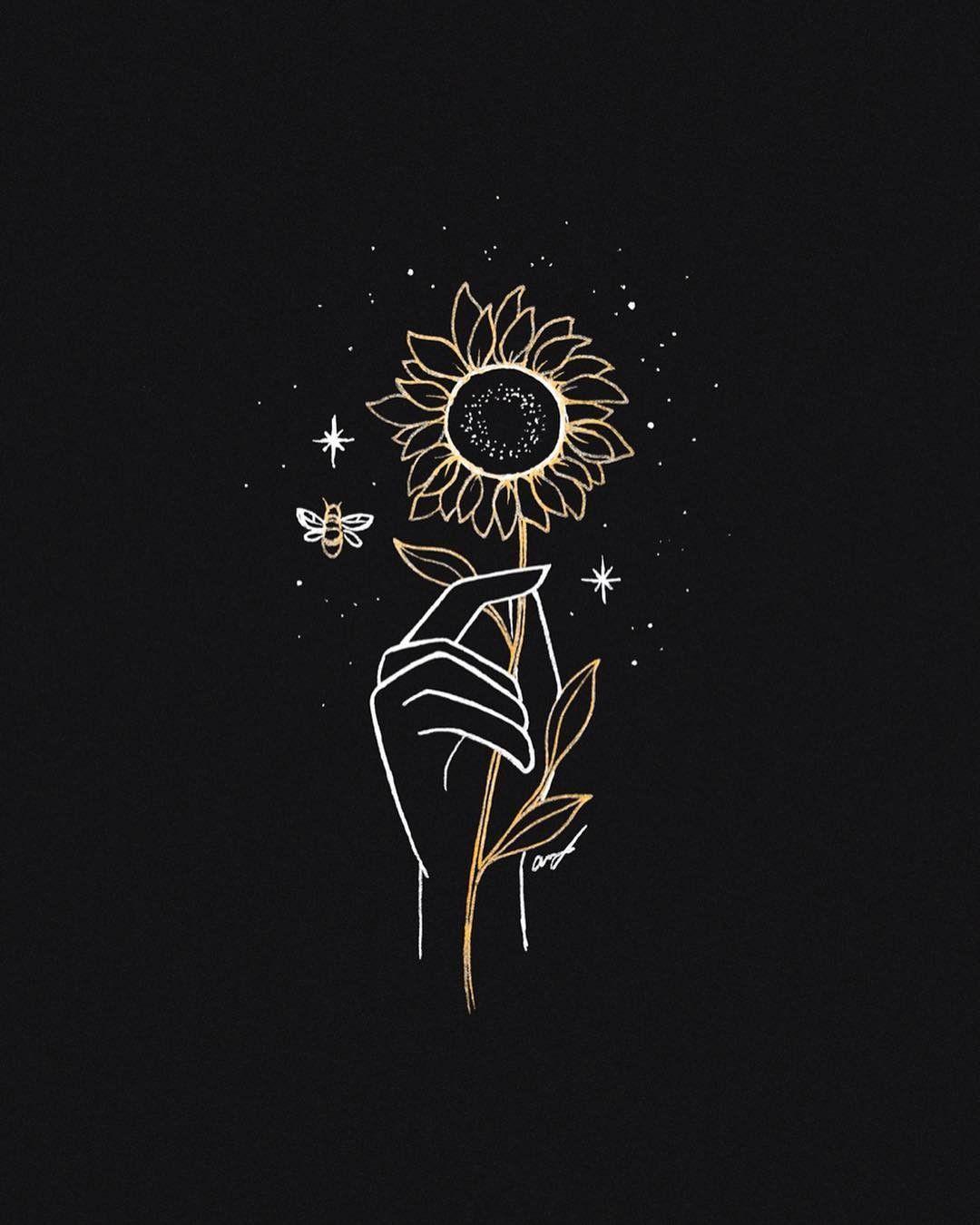 Pin By Gabriella On Designs Art Sunflower Wallpaper Cute