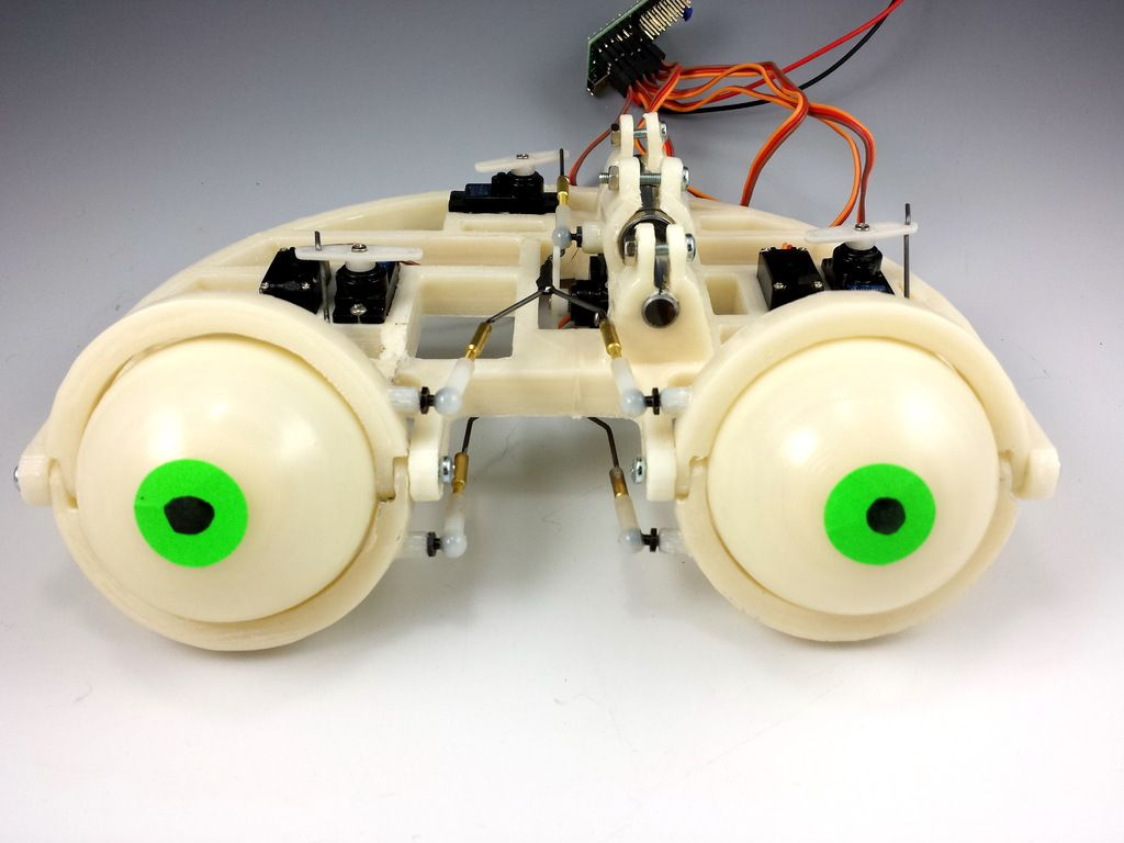 Animatronic Eyeballs From Micropuller S Post By Welwell Arduino Projects 3d Printer Printer