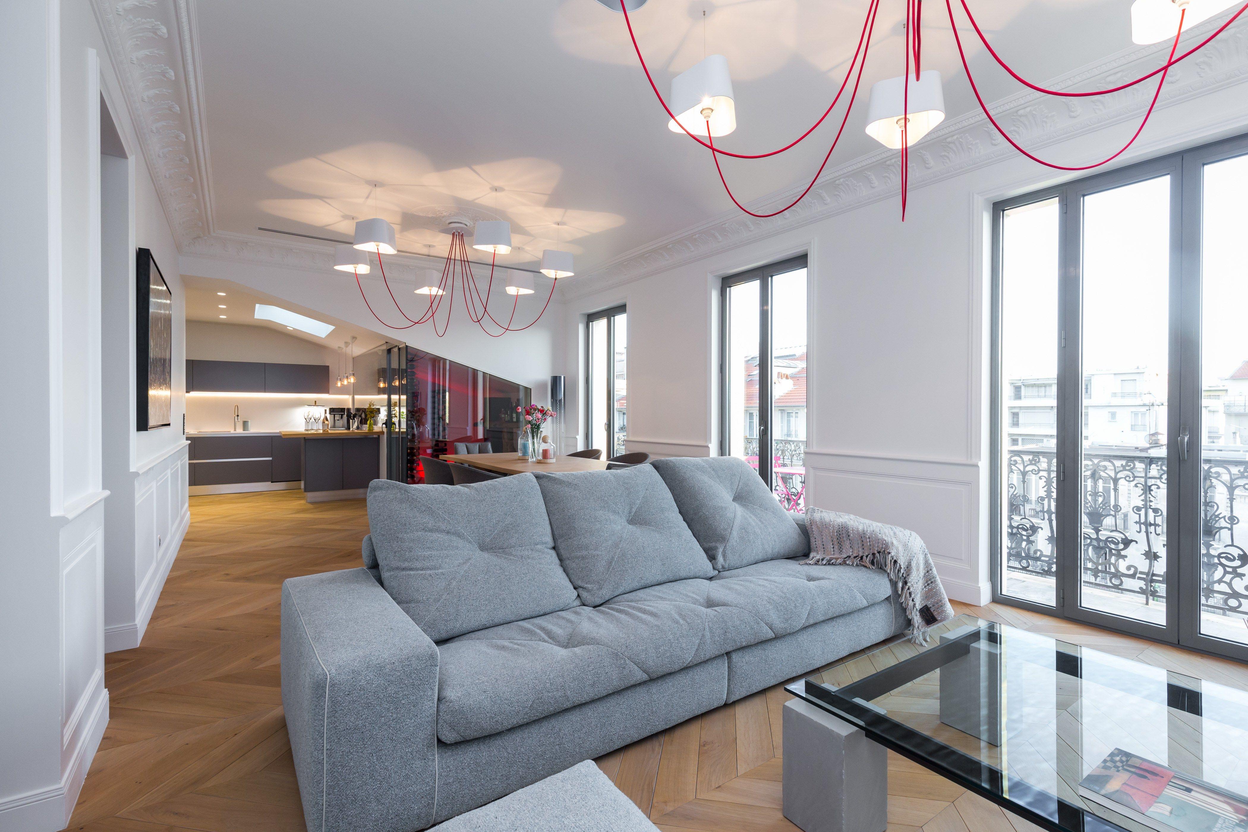 Salon Avec Canap Table Basse Et Meuble T L Roche Bobois Toute  # Table Basse Et Table De Television
