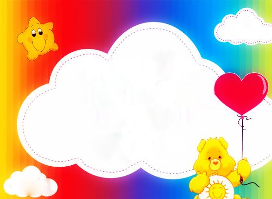 Invite Template Care Bears\/Rainbow Birthday Party Pinterest - rainbow template