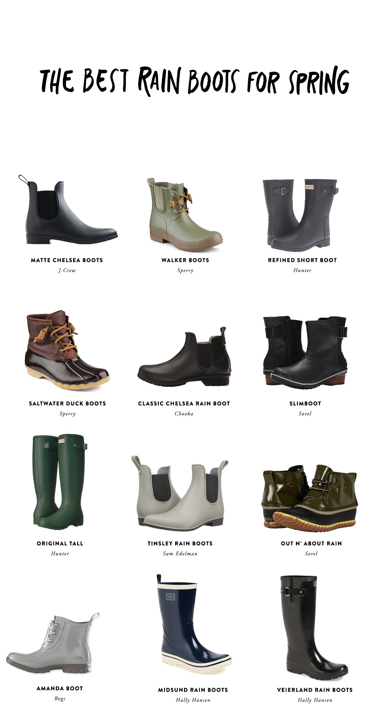 90e08e48ee4 The Best Spring Rain boots to help you prep for spring. Get the full ...