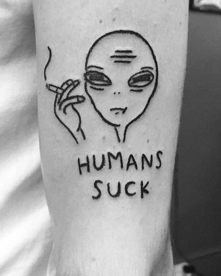Humans Suck Temporary Tattoo - Simply Inked