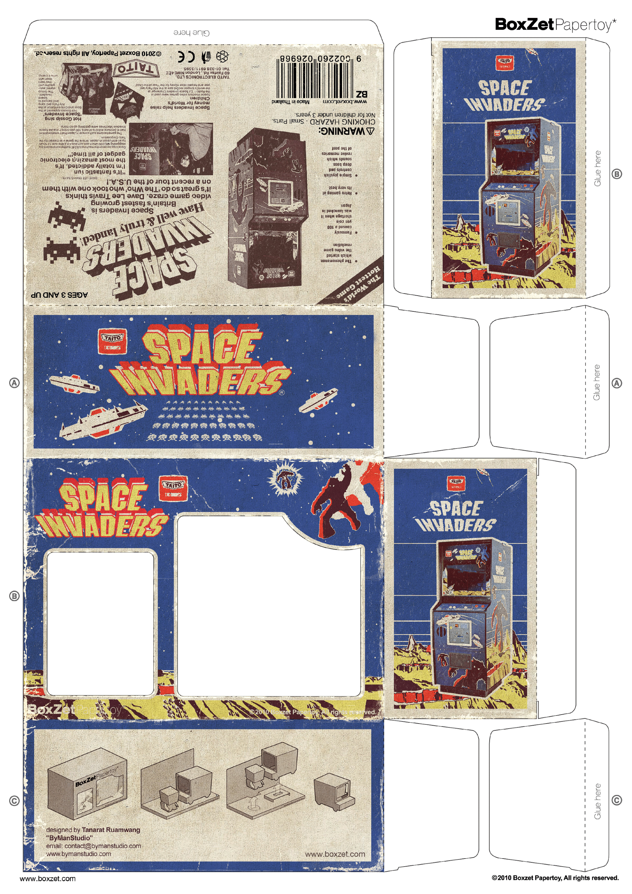 Papertoy Space Invaders Boxzet 1 Paper Toys Paper Dolls Paper Crafts