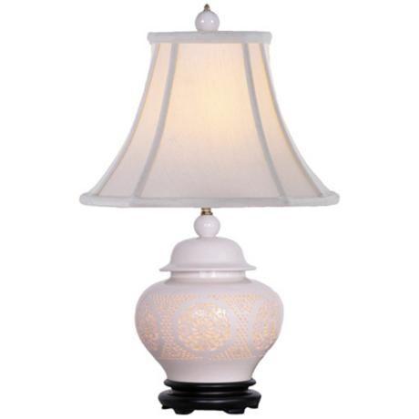 Pierced Bone China Urn Night Light Table Lamp   LampsPlus ...