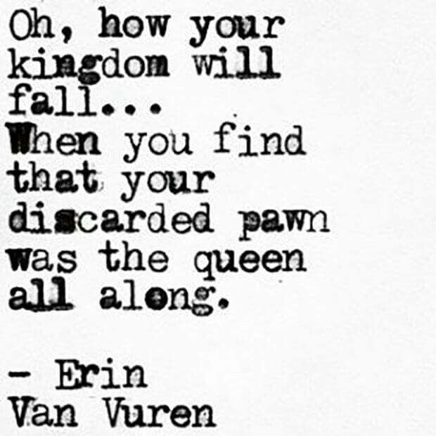 I've always known your worth... and I will never discard you.