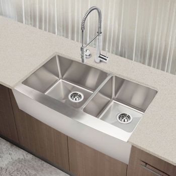 Hahn Chef Series Extra Large 60 40 Curved Farmhouse Sink